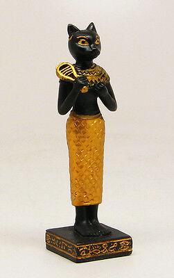 Miniature Egyptian Bastet Figurine.Ubasti Bast Deity.Ancient Egypt God Statue