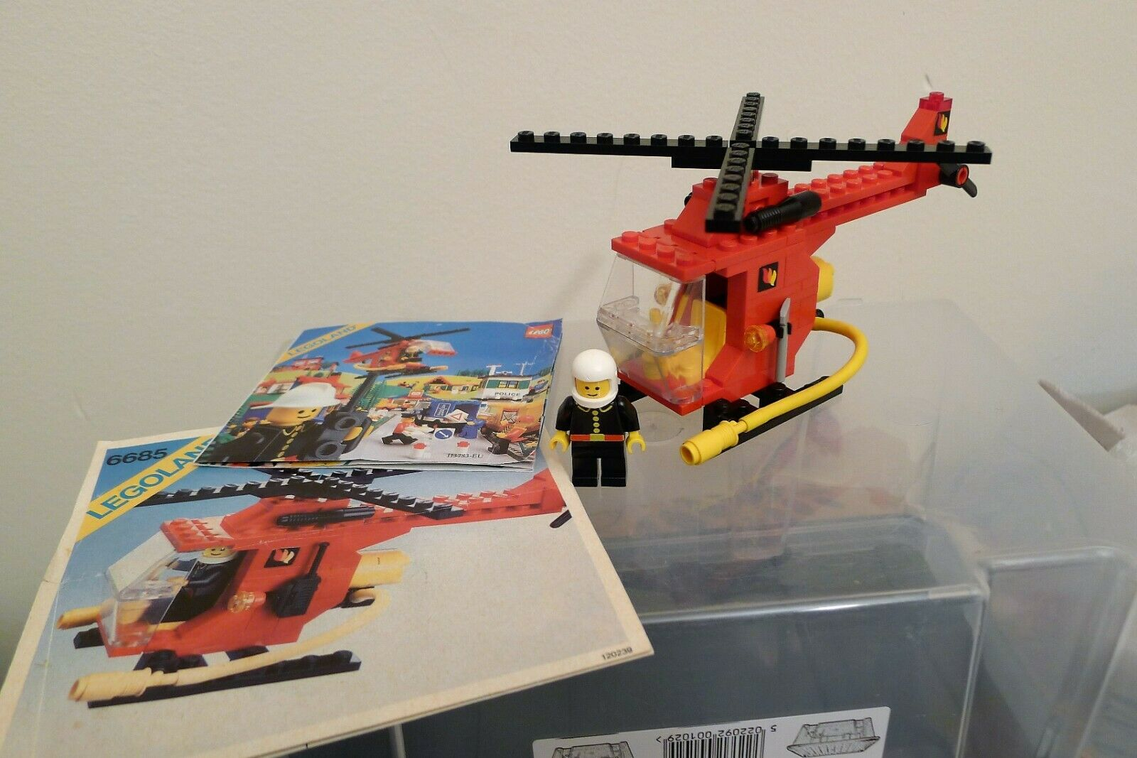 LEGO Legoland 6685 Fire Copter Helicopter 100% CORRECT with instructions