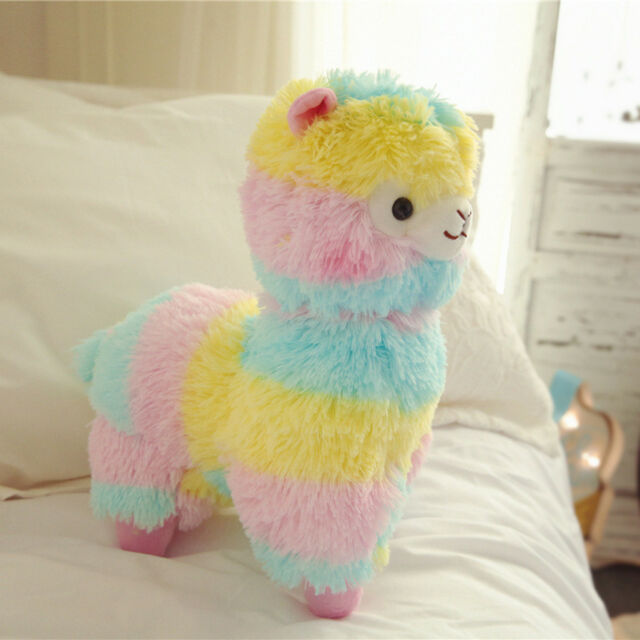 20 Big Cute Rainbow Alpacasso Soft Plush Alpaca Llama Kawaii Toy