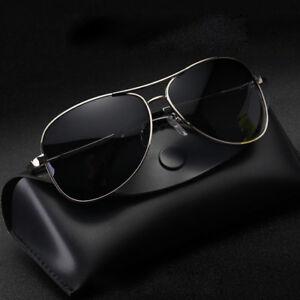 67545e7929fa LE Men s Polarized Aviator Sunglasses For Drivers Double Beam Retro ...