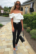 31c4ba783a item 1 Womens Off The Shoulder Bardot Bodysuit with Extreme Structured Frill  Ruffle Top -Womens Off The Shoulder Bardot Bodysuit with Extreme Structured  ...