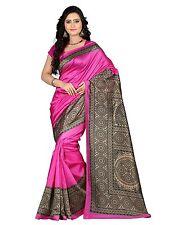 Bollywood Saree Party Wear Indian Ethnic Pakistani Designer Sari Wedding - Pink