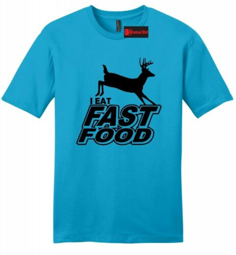I Eat Fast Food Funny Mens Soft T Shirt Hunter Deer Shooting Hunting Gift Tee Z2