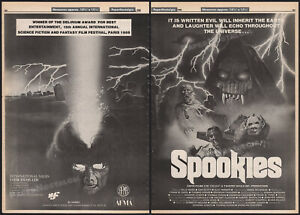 SPOOKIES__Original 1986 Trade AD promo / poster__MARIA PECHUKAS_PETER IASILLO JR