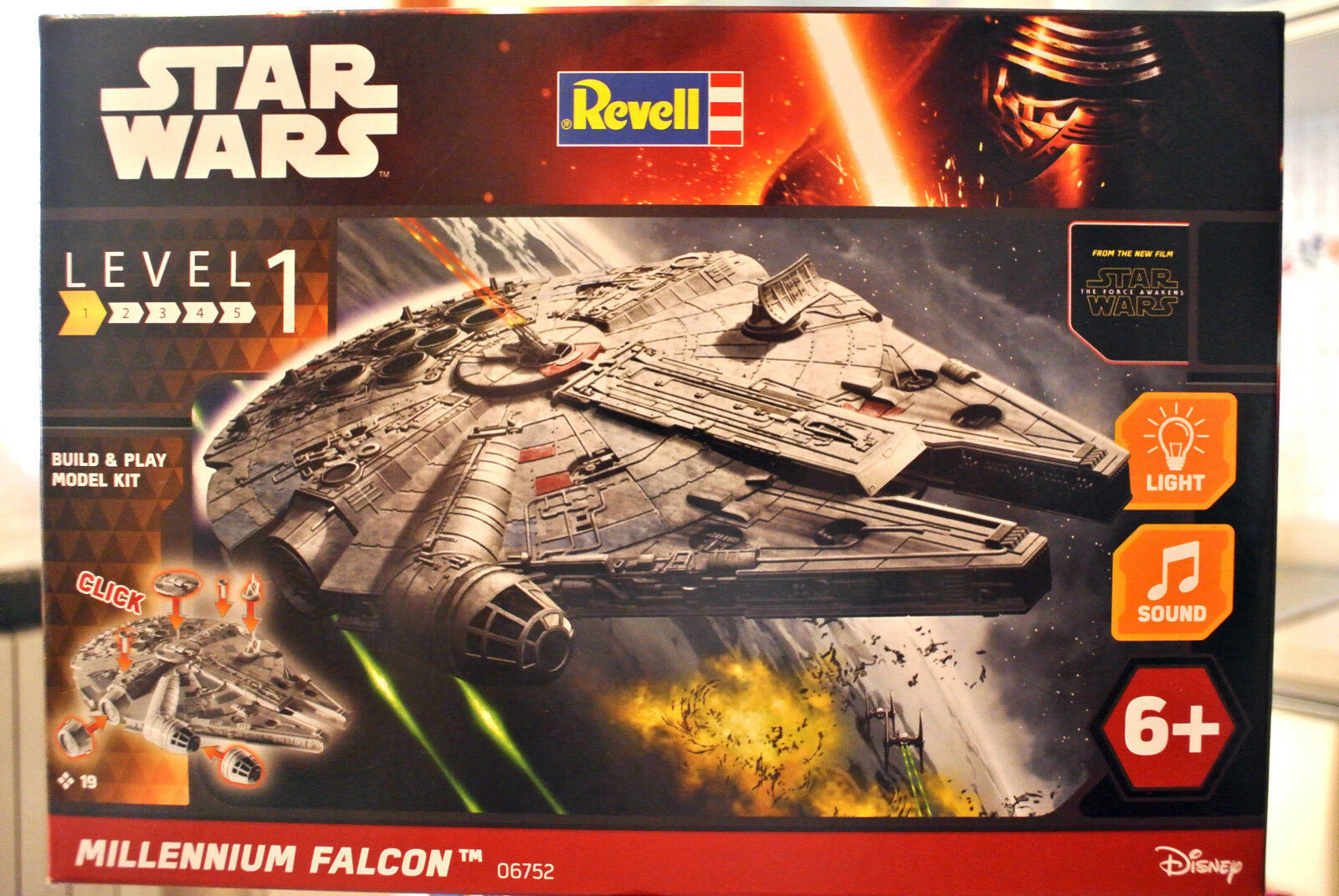 (PRL) STAR WARS REVELL MILLENNIUM FALCON 06752 MONTAGGIO MODELLINO MODEL 1 164
