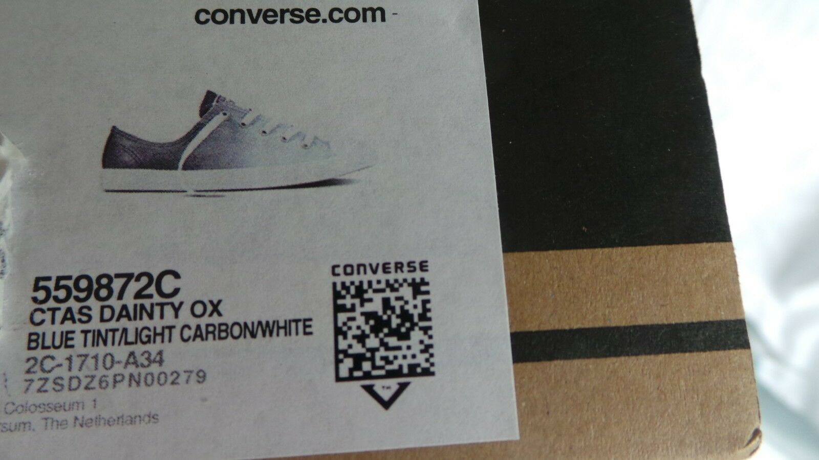 finest selection 7e359 8b2e2 ... New in in in Box Converse All Star Dainty Ox Sparkle Baskets Taille 6  Blue Tint