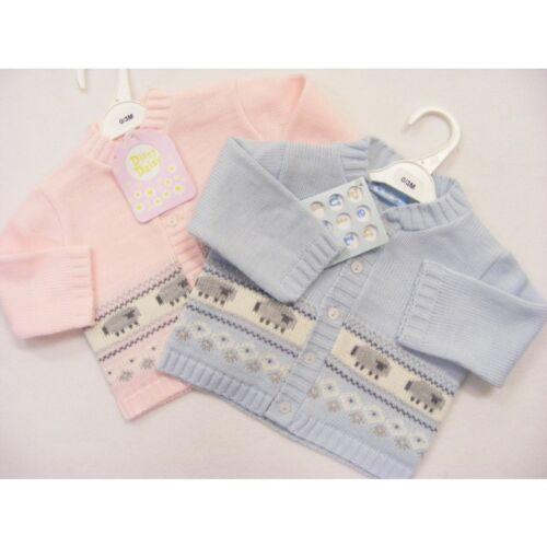 Baby Boys Girls Traditional Pink Sheep Cardigan