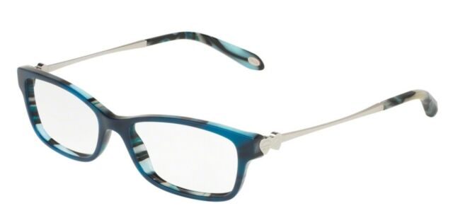 Authentic Tiffany & Co Eyeglasses Frames Tf2140 Havana Blue 8208 ...