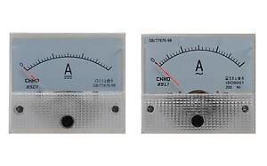 Amperemeter-AC-DC-Einbauinstrument-Messinstrument-Einbau-analog-Panel-Meter