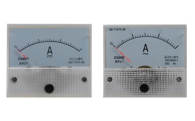 Amperemeter AC / DC Einbauinstrument Messinstrument Einbau analog Panel Meter
