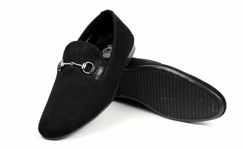 Mens Slip On Shoes Smart Leather Driving Designer Italian Loafers Moccasin Size