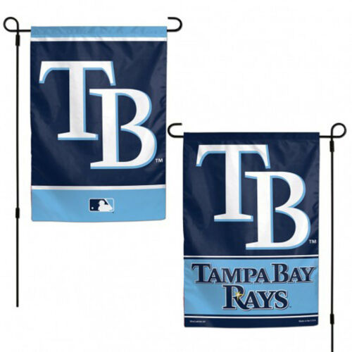 "Tampa Bay Rays Garden Flag Double Sided MLB Licensed 12/"" x 18/"""