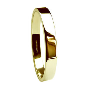 2-5mm-9ct-Yellow-Gold-Wedding-Rings-Flat-Profile-Band-2-2g-375-UK-Hallmarked-H-Q