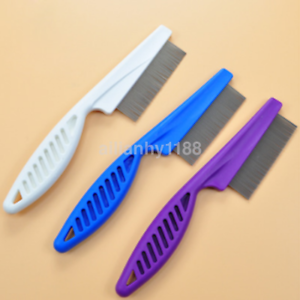 Pop-Fine-Toothed-Flea-Flee-Metal-Nit-Head-Hair-Lice-Comb-with-Handle-AU