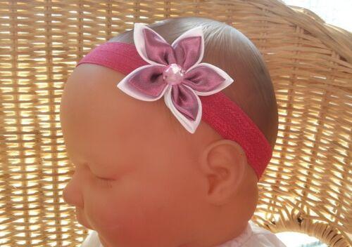 BABY CHILD REBORN DOLL STAR FLOWER GEM BLING HEADBAND MANY COLOURS