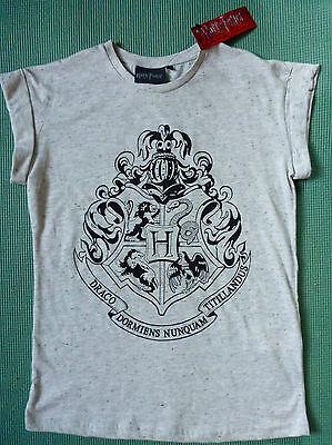 Official Harry Potter Primark Ladies' T-Shirt - Hogwarts Crest