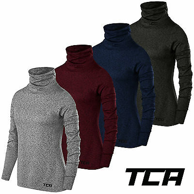 TCA Thermal Warm-Up Funnel Neck Womens Long Sleeve Running Top Grey
