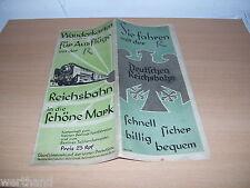 deutsche Reichsbahn Karten für den Fahrplan  Eisenbahn DR #55