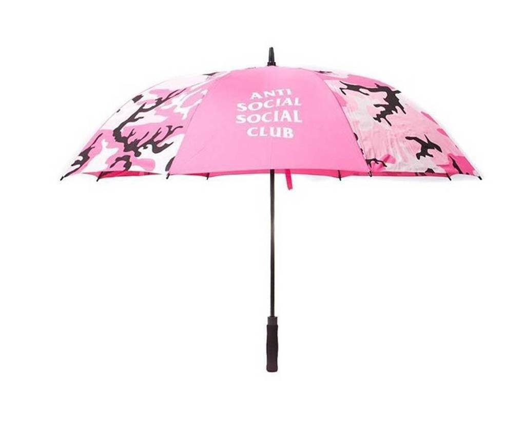Brand New AntiSocial social Club Umbrella Camo Pink
