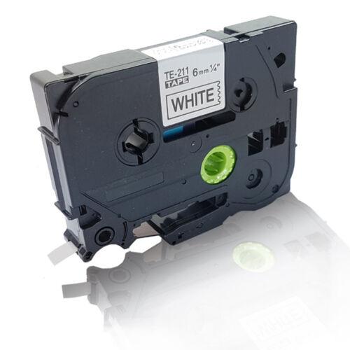 Kompatibles Schriftband für Brother P-Touch1000 6MM x 8M TZ211 Car Toner Serie
