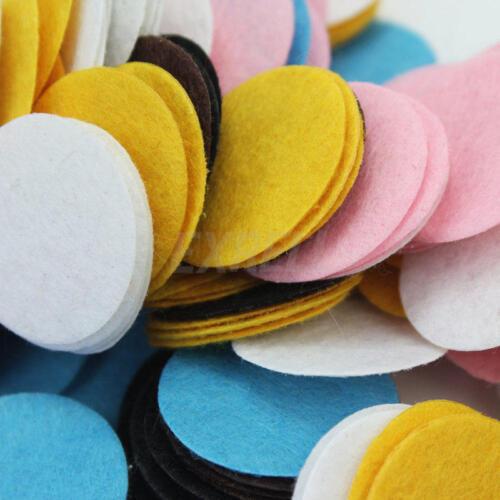 200Stück Mischfarbe Gestempelschnitten Filz Kreis Appliques DIY Dekoration 30mm