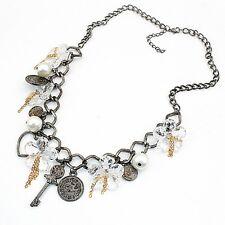 charms statement bib vintage collar chunky necklace boho key chains dangle
