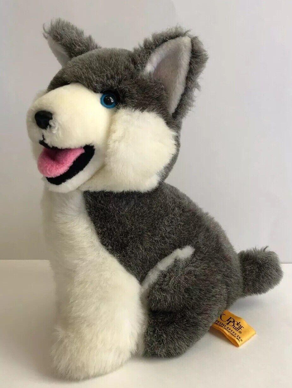 "24k Polar Puff Husky Special Effects Plush No. 4580 ""Luke"" Vintage Dog"