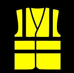 sticker autocollant gilet jaune route securite routiere stickers vynil voiture ebay. Black Bedroom Furniture Sets. Home Design Ideas
