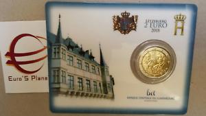 Coin-card-2-euro-2018-Lussemburgo-Luxembourg-Luxemburg-Luxemburgo-Guillaume-175