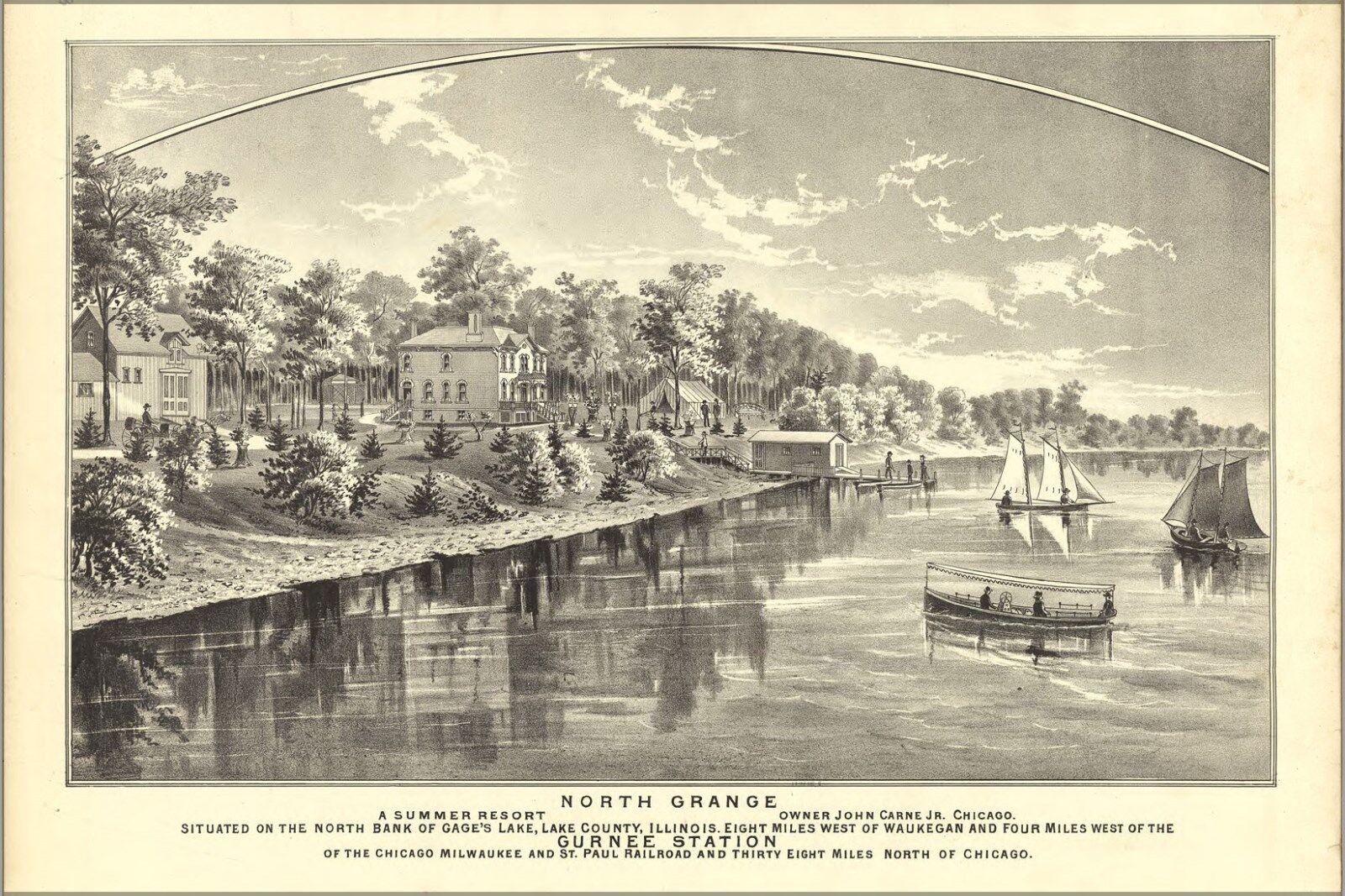 Plakat, Viele Größen; KKunste von Nord Grange Illinois 1885
