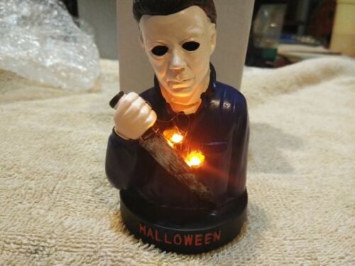 "Halloween Michael Myers Bust 4/"" Serial Resin Co Fright Crate /""light Up/"""