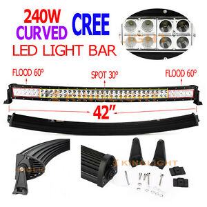 240w 42 Inch Cree Led Light Bar Combo Beam Curved Work