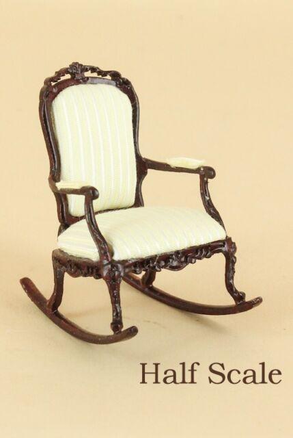 """Bespaq Dollhouse Miniature  1/2"""" SCALE  """"SWEET WREATH"""" ROCKING CHAIR  S-1648-MH"""