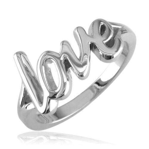 Script Love Ring in Sterling Silver