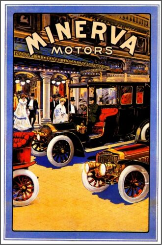 Belgium Minerva Automobile Car Advertisement Art Vintage Poster Print Antwerp