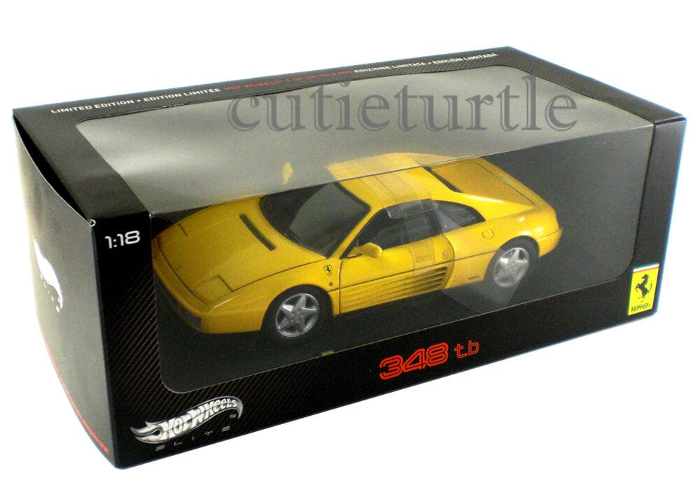 HOT Wtalons ELITE V7437 Ferrari 348 To  1 18 moulé sous pression Jaune  soutenir le commerce de gros