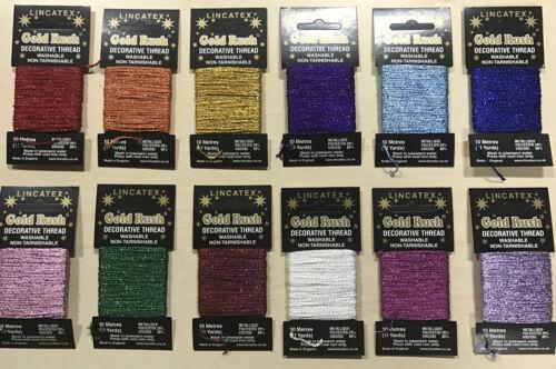 Décoratif glitter thread card 10 mètres chacune par lincatex gold rush angleterre