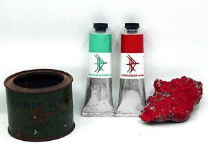 Emerald Green, Cinnabar - Poison hue oil paint set - 37ml