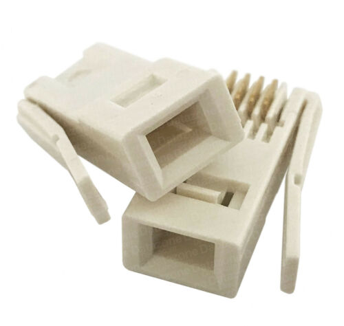 BT telephone crimp ends 4 Pin 431A telephone plug home network