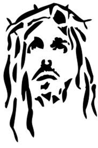A3 ***NEW*** A5 Jesus Christ 2 190 micron robust Mylar Stencil A4