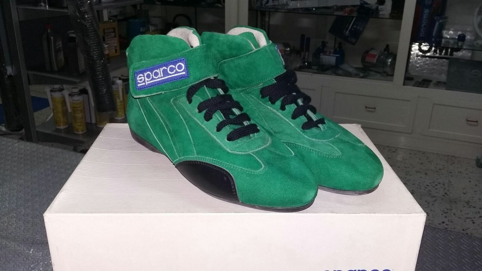 zapatos SPARCO OMOLOGAZIONE SCADUTA IGNIFUGHE PER PER PER GARE UISP O KART TAGLIA 42 USED 036744