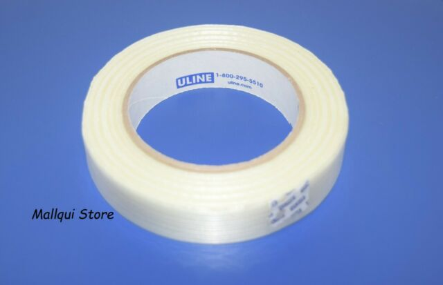 """10 Rolls Uline Industrial Filament Strapping Tape 3//4/"""" x 64 Yards Clear Packing"""