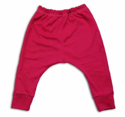 kids girls toddler plain colour boys trousers leggings harem2-3-4-5years cotton