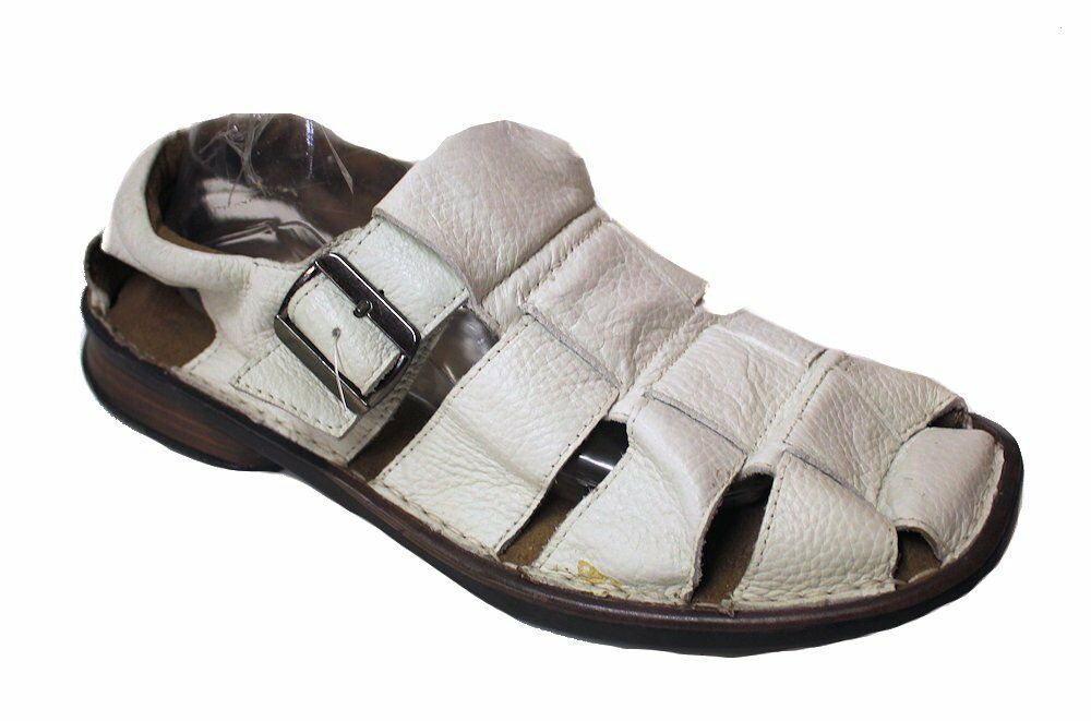 Stacy Adams Men's Closed Toe Fisherman Sandals White US 10 NOB NWD