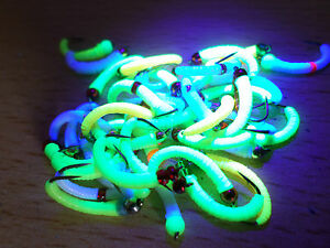 Toms deadly glow in the dark trout buzzers trout lures fly for Glow in the dark fishing spinners