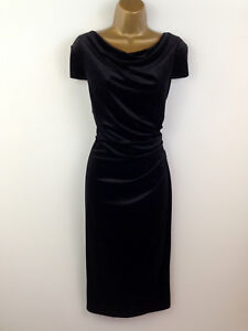 Per-Una-M-amp-S-Black-Dress-UK-Size-10-Secret-Support-Shift-Womens-Party-Christmas