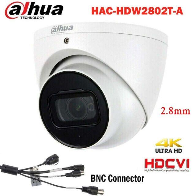 Dahua  4K Starlight HDCVI IR40 IP67 Mic Bullet Camera HAC-HFW2802E-A HD//SD