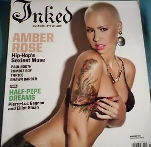 INKED TATTOO MAGAZINE NOVEMBER 2011 AMBER ROSE THE HIP HOP MUSE | eBay