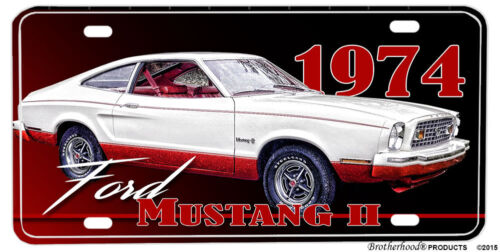 1974 Ford Mustang II Aluminum License Plate