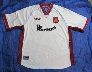 West Ham United Hammers Away Shirt Pony 1998-1999 Dr. Martens WHU ... 84cffd83e